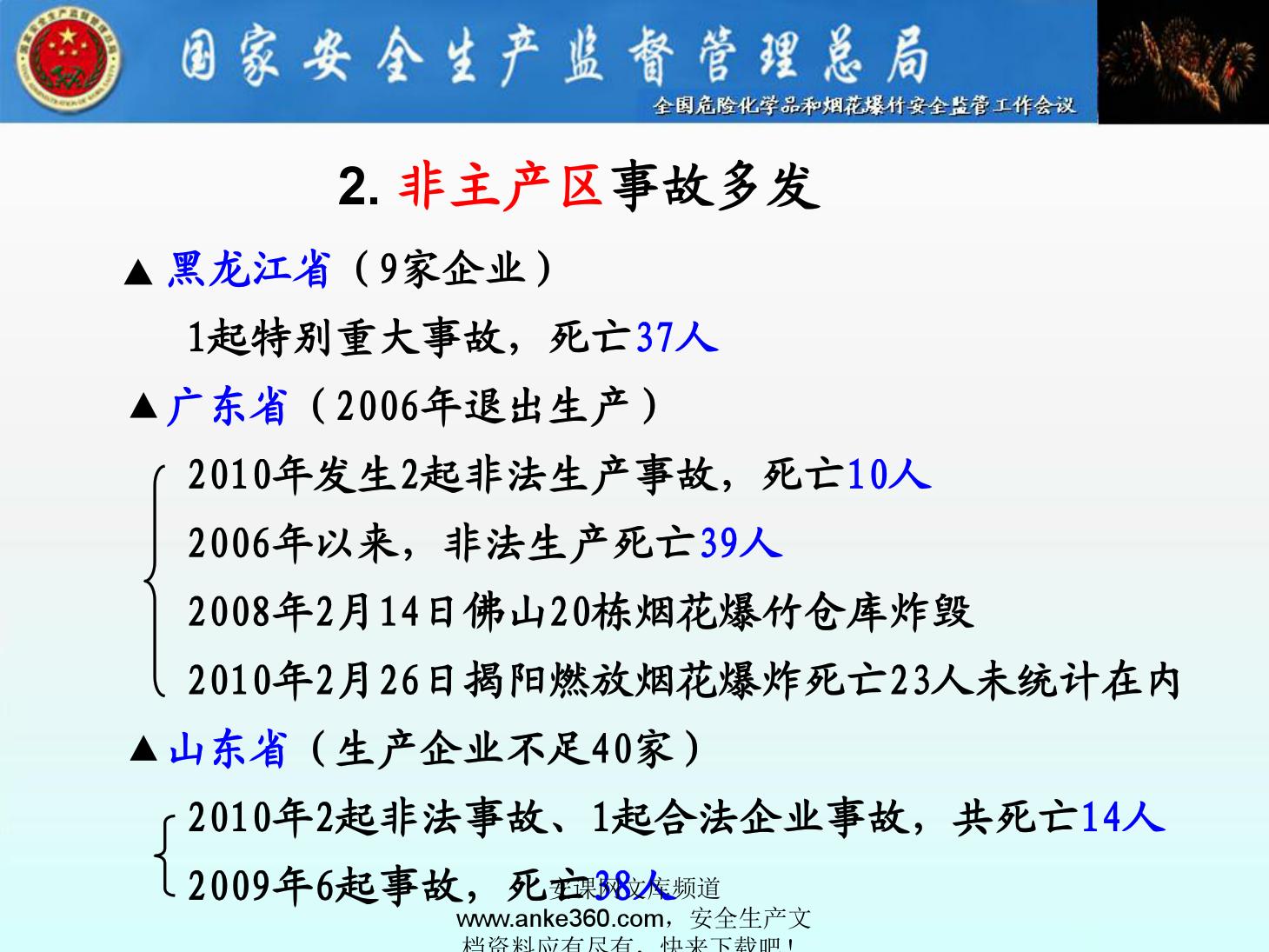030 22957250 烟花爆竹事故分析(00001) - 安课网,安全教育培训内容专家